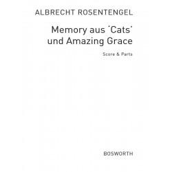 Lloyd Webber, Andrew: Memory aus Cats und Amazing Grace : für Flötenensemble (SATB), Klavier und Schlagwerk Partitur und