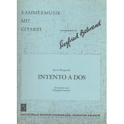 Benguerel, Xavier: Intento a dos : f├╝r Gitarre und Schlagzeug Partitur