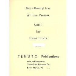 Presser, William: Suite : for 3 tubas score and parts