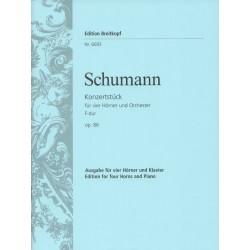 Schumann, Robert: Konzertstück op.86 für 4 Hörner und Orchester : für 4 Hörner und Klavier