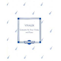 Vivaldi, Antonio: Concerto : for 4 violas and piano