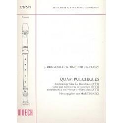 Quam pulchra es : 3-stg Sätze für 3 Blockflöten (ATT) Spielpartitur