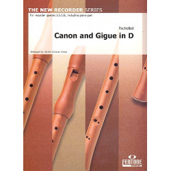 Pachelbel, Johann: Canon and Gigue in D : for 4 recorders (SSSB) and bc score and parts