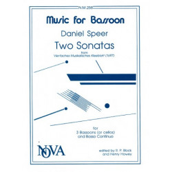 Speer, Daniel Georg: 2 Sonatas : for 3 bassoons (celli) and bc score+3parts