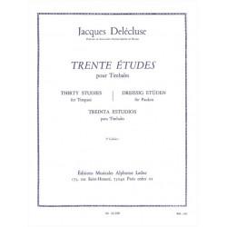 Delécluse, Jacques: 30 Études vol.3 : pour timbales (dt/en/fr/sp)
