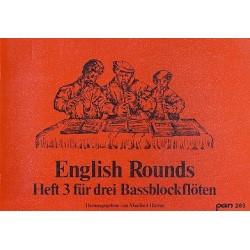 English Rounds Band 3 : für 3 Baßblockflöten