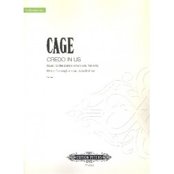 Cage, John: Credo in us for 4 players Score