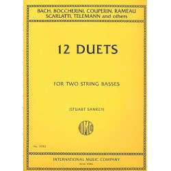 Album of 12 classical Duets for 2 double basses score