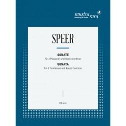 Speer, Daniel Georg: Sonate : f├╝r 4 Posaunen und Bc Stimmen