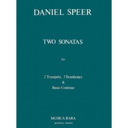 Speer, Daniel Georg: 2 SONATEN : FUER 2 TROMPETEN, 3 POSAUNEN UND BC, STIMMEN