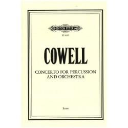 Cowell, Henry Dixon: CONCERTO FOR PERCUSSION AND ORCHES. Studienpartitur