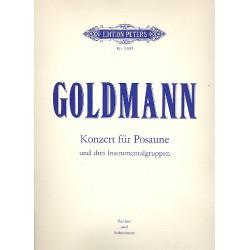 Goldmann, Friedrich: Konzert : f├╝r Posaune und 3 Instrumentalgruppen Partitur und Stimme
