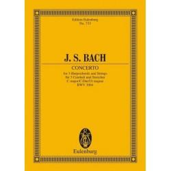 Bach, Johann Sebastian: Konzert C-Dur BWV1064 : für 3 Cembali und Streicher Studienpartitur