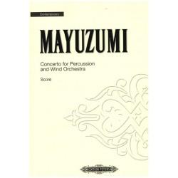 Mayuzumi, Toshiro: CONCERTO : FOR PERCUSSION AND WIND ORCHESTRA SCORE