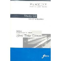 Telemann, Georg Philipp: Partita G-Dur Nr.2 für Sopranblockflöte und Klavier : Playalong-CD