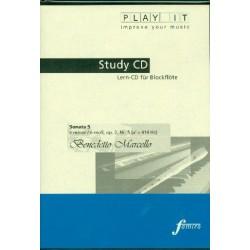 Marcello, Benedetto: Sonate e-Moll Nr.5 op.2,5 für Blockflöte und Bc : Playalong-CD