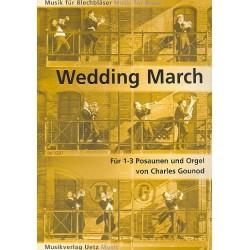 Gounod, Charles Francois: Wedding March : für 1-3 Posaunen und Orgel Partitur und Spielpartitur (Faksimile)