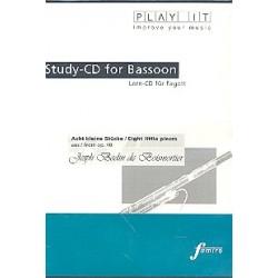 Boismortier, Joseph Bodin de: 8 kleine Stücke op.40 für Fagott und Cembalo : Playalong-CD