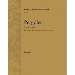 Pergolesi, Giovanni Battista: Stabat mater : für Sopran, Alt, Streicher und Bc Cello/Baß