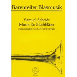 Scheidt, Samuel: Musik für Blechbläser : Sätze für 3-8 Stimmen Partitur