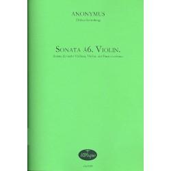 Anonymus: Sonata á6. Violin.: für 6 Violinen, Violon und Bc Partitur und Stimmen