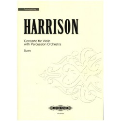 Harrison, Lou: CONCERTO : FOR VIOLIN AND PERCUSSION ORCHESTRA SCORE+PARTS