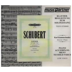 Schubert, Franz: Schwanengesang D957 tief CD - Klavierbegleitung