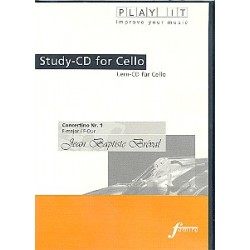 Bréval, Jean Baptiste: Concertino F-Dur Nr.1 : Lern-CD für Cello