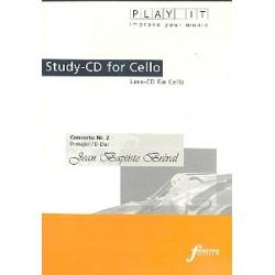 Bréval, Jean Baptiste: Konzert D-Dur Nr.2 : Lern-CD für Violoncello mit der Klavierbegleitung in 3 Tempi
