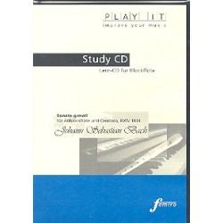 Bach, Johann Sebastian: Sonate g-Moll BWV1034 für Blockflöte und Cembalo : Playalong-CD