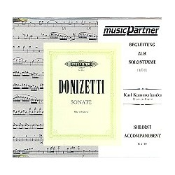 Donizetti, Gaetano: Sonate C-Dur : f├╝r Fl├Âte und Klavier CD mit der Begleitung zur Solostimme