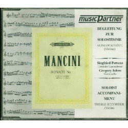 Mancini, Francesco: Sonate d-Moll Nr.1 : CD für Altblockflöte (Violine) und Bc Begleitung zur Solostimme