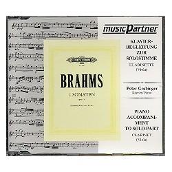 Brahms, Johannes: 2 Sonaten op.120 : CD mit der Klavierbegleitung zur Soloklarinette (Soloviola)
