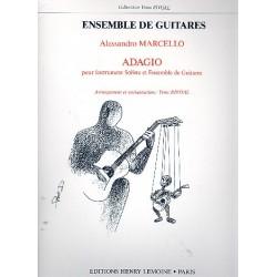 Marcello, Alessandro: Adagio : pour instrument soliste (violon, flûte) et ensemble de guitares (5)