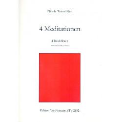 Termöhlen, Nicola: 4 Meditationen : für 4 Blockflöten (ATTT) Spielpartitur