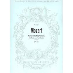 Mozart, Wolfgang Amadeus: Rondo Es-Dur KV371 : für Horn und Orchester Partitur
