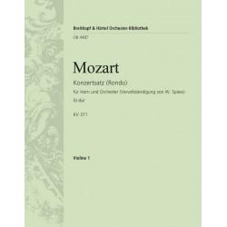 Mozart, Wolfgang Amadeus: Rondo Es-Dur KV371 : für Horn und Orchester Violine 1