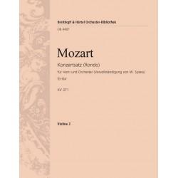 Mozart, Wolfgang Amadeus: Rondo Es-Dur KV371 : für Horn und Orchester Violine 2