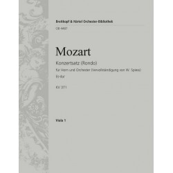 Mozart, Wolfgang Amadeus: Rondo Es-Dur KV371 : für Horn und Orchester Viola