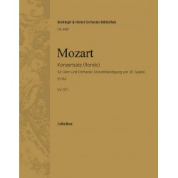 Mozart, Wolfgang Amadeus: Rondo Es-Dur KV371 : für Horn und Orchester Cello/Baß