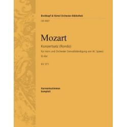 Mozart, Wolfgang Amadeus: Rondo Es-Dur KV371 : für Horn und Orchester Harmonie