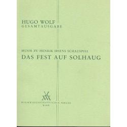 Wolf, Hugo: Musik zu Henrik Ibsens Schauspiel Das Fest auf Solhaug Partitur