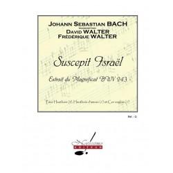 Bach, Johann Sebastian: Suscepit Israel BWV243 : pour 3 hautbois, hautbois d'amour et cor anglais partition et parties