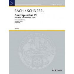 Bach, Johann Sebastian: Contrapunctus 6 für 20 räumliche Stimmen a cappella (gem Chor) Partitur