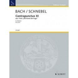Bach, Johann Sebastian: Contrapunctus 11 : Bearbeitung für Stimmen Partitur