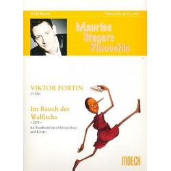 Fortin, Viktor: Im Bauch des Walfischs : für Bassblockflöte (Altblockflöte) und Klavier