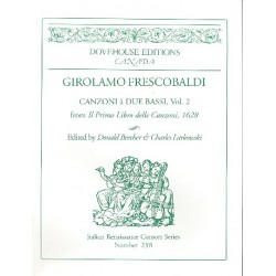Frescobaldi, Girolamo Alessandro: Canzoni a 2 bassi Bd.2 : für 2 Bassinstrumente und bc Beecher, D., Ed.