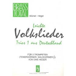 Leichte Volkslieder-Trios aus Deutschland Band 1 : für 3 Trompeten Partitur und Stimmen