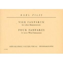 Pilss, Karl: 4 Fanfaren : für 4 Blasinstrumente Partitur