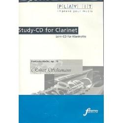 Schumann, Robert: Fantasiestücke op.73 für Klarinette und Klavier : Playalong-CD